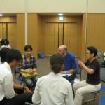 アメリカの生徒さんと。英会話の必要性を痛感したようでした。