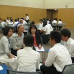 シンガポールの生徒さんと。シンガポールに観光旅行をした高校生がいました。