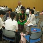 インドの生徒さんと。 最初に覚えた日本語は? 「おはようございます」です。