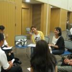 中国の生徒さんと。とても日本語が上手です。カメラを向けると「ピース」をしてくれました。