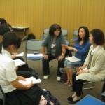 中国の生徒さんと。 身振り手振りで話してくれました。