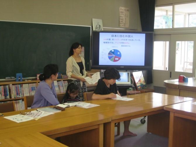 まずは三田市在住の外国人の状況について説明。