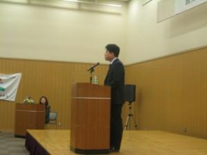 第4回のグランプリ受賞者張守斌さんのスピーチ。 「日本の一流会社に就職するのが夢でした。」