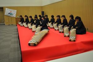 北摂三田高校邦楽部の演奏
