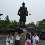 太閤さん。大阪城でのミッションは太閤さんの銅像を探せ!でしたが、意外と難しく、大阪城のはずれに有るのです。皆、天守閣のそばとに有ると思いますよね。