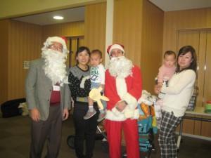 サンタさんも参加しました。