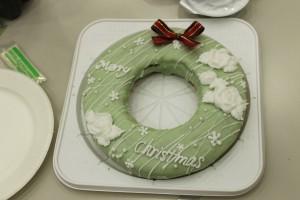 手作りのクリスマスケーキ おいしそう!