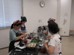 韓国料理、唐辛子をふんだんに使ってます