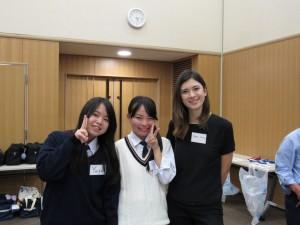 ALTのEmma Huangさん 「日本語サロンで日本語の勉強してます」 「英語はしゃべれるんだけど、日本語はむずかしぃぃぃ」