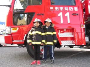 小さな 消防隊員の 誕生です