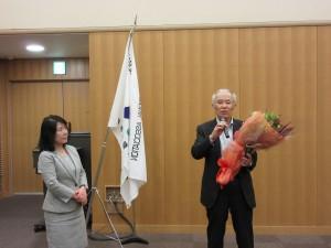 井上剛さんの副会長離任の挨拶も行われました。