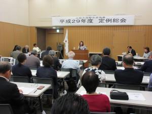 中島会長の挨拶からSIA総会が始まりました。