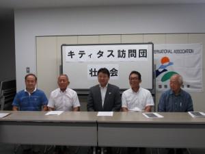 訪問団の皆さん 左から 竹中さん 西上さん 関口さん 丹後さん 高谷さん