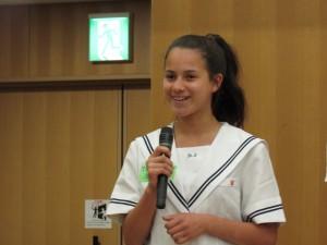 Seleste Lederthongさん 「 日本語を2年間勉強しました 」