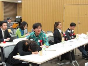 日本語スピーチが始まります 緊張してます!!