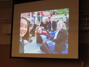 助口 綾菜さんは都合で出席できませんでしたが沢山の写真をいただきました