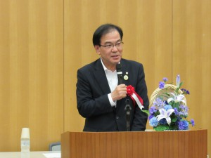 三田市長 森哲男様よりご祝辞をいただきました