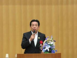 三田市議会議長 今北義明様よりご祝辞をいただきました