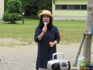 中島会長の挨拶 「今日1日 たのしんでください」