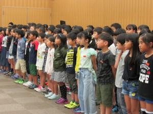 三輪小学校の皆さん 校歌を歌いました