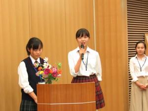 西田さんも楽しかった留学の体験を話されました