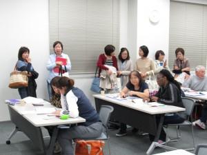 最終日は実際に日本語サロンを見学しました