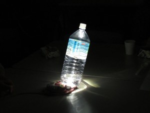 ペットボトルのランタンです 光が広がります