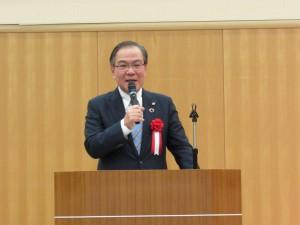森哲男三田市長より励ましのお言葉「日本語スピーチがんばってください」