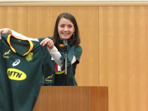 南アフリカ ナディーン デュ ランドさん ラグビーワールドカップ 南アフリカが優勝しました ほんとにうれしかった!